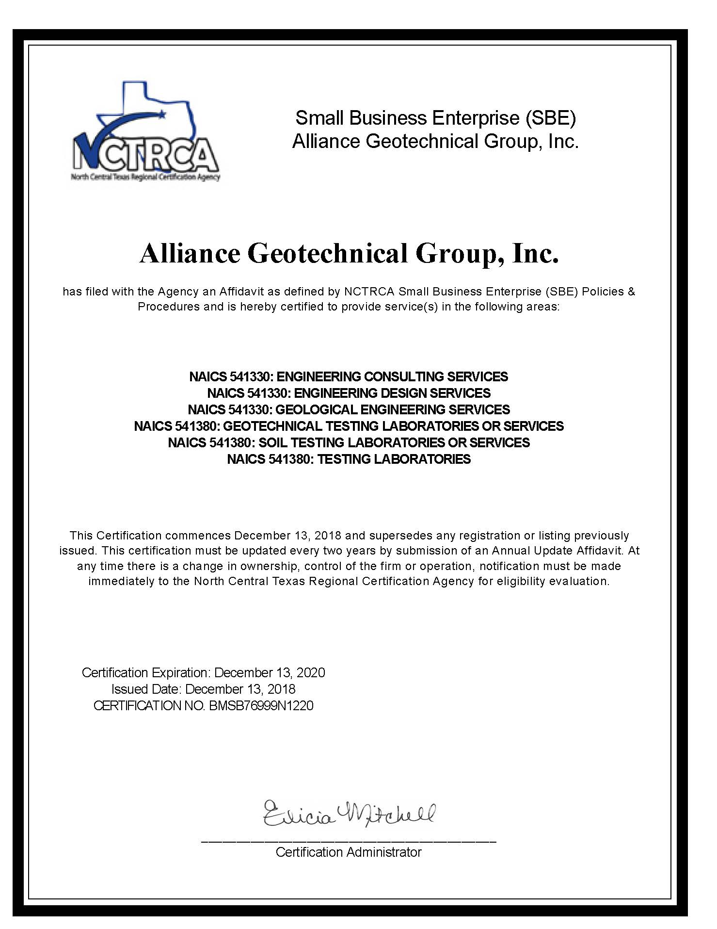 Alliance Geotechnical Group